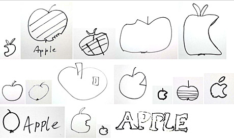 apple scribbles