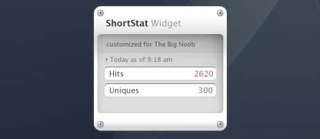 shortstat widget