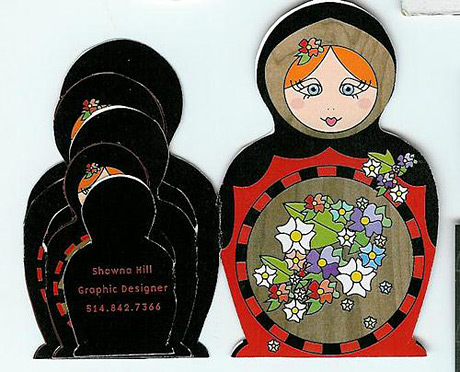matryoshka business card